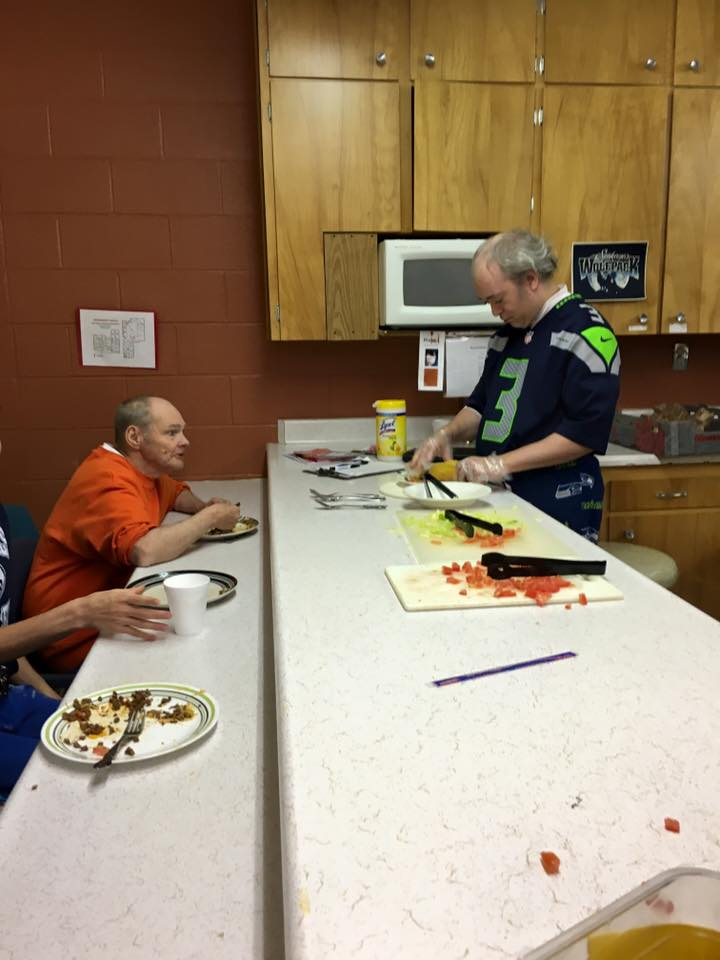 Enjoying the fruits of Sunday evening Cooking Class at The Den.
