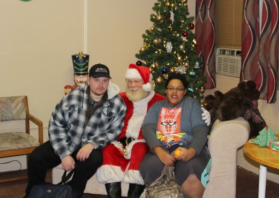 Santa Claus came to The Wolf Den to visit with members!